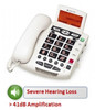 ClearSounds WCSC600 Amplified Corded Big Button Telephone with Caller ID - White
