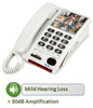 Amplified Corded Telephone with Photo Buttons for Mild Hearing Loss - Serene Innovations Model HD40P