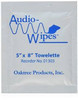 Audiowipes Individually Packaged Disinfectant Cleaning Wipes - Box of 100 (Model 01303)