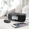 TimeShaker Micro by iLuv (Dual Alarm Clock Bluetooth FM Stereo Clock Radio with Bed Shaker Alarm & USB Charging Port)