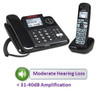 2 Phone Bundle for Mild to Moderate Hearing Loss - Includes 1 Base Corded Telephone and 1 Expansion Handset Clarity Model E814CC
