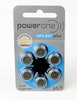 Power One 675 Cochlear Implant Batteries (1 Card of 6 Batteries)