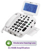 Large Screen Amplified Corded Telephone for Vision Loss - Geemarc Model BDP400