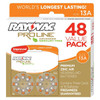 Rayovac Proline Advanced Mercury-Free Hearing Aid Batteries 48-Box Size 13