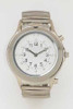Braille Talking Watch Silver Face Silver Band