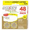 Rayovac Proline Advanced Mercury-Free Hearing Aid Batteries 48-Box Size 10