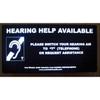 Oval Window Hearing Help Available Illuminated Sign
