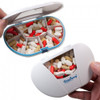 Gasketed Vitacarry 7 Compartment Pill Box Holds up to 150 Pills Waterproof (White 7 Compartment)