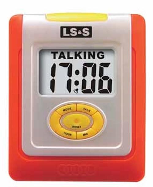 Orange Talking Desk Clock