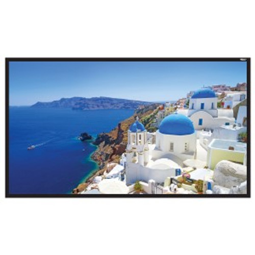 "HamiltonBuhl 150"" Diag. (74x131) Fixed Frame Projector Screen, HDTV Format, Matte White Fabric"