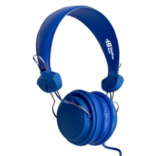 HamiltonBuhl TRRS Headset with In-Line Microphone - Blue
