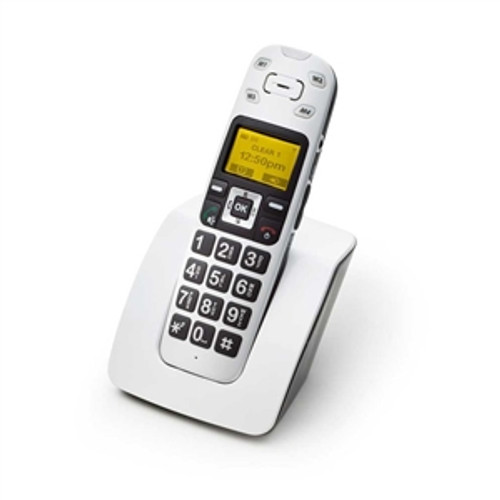 Amplified Cordless Telephone with Vibrating Handset for Mild to Moderate Hearing Loss - ClearSounds Model A400
