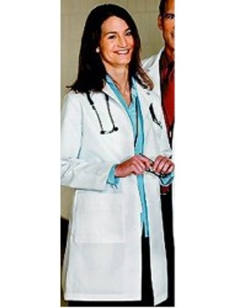 "Women's Lab Coat - White Color - 37"" length"