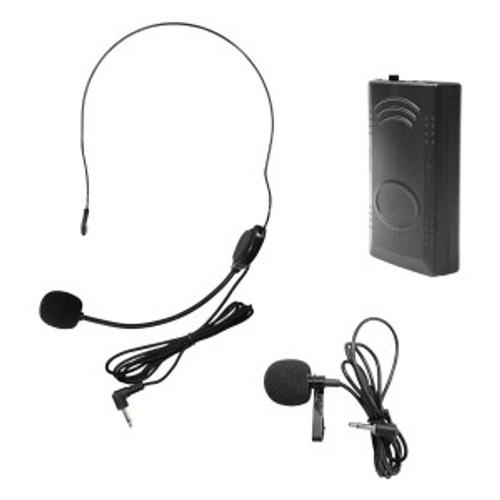 HamiltonBuhl Venu100 Belt Pack w/ lapel mic and head worn mic