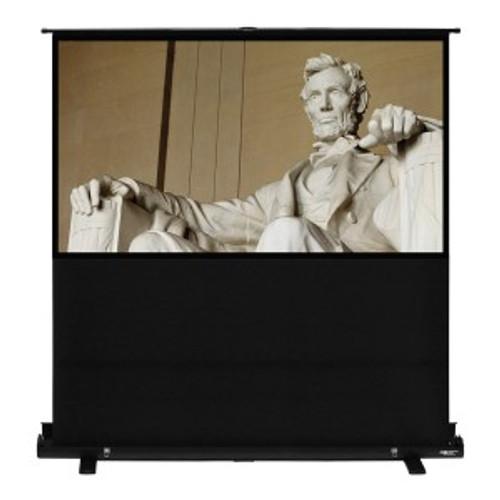 "HamiltonBuhl 100"" Diag. (49x87) Portable Floor Rising Screen, HDTV Format, Matte White Fabric"
