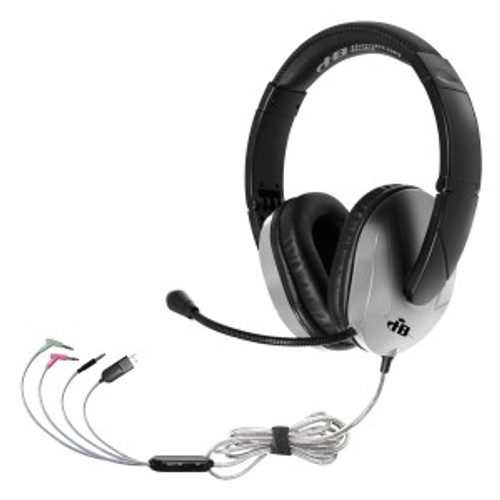 HamiltonBuhl TriosPlus  Multimedia Headset with Gooseneck Mic - Connect to Any Device!