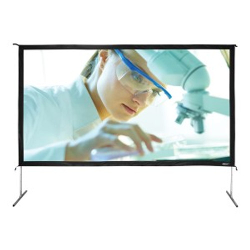 """HamiltonBuhl 165"""" Diag. (81x144) Folding Frame Screen with Case, HDTV Format, Matte White Fabric"""