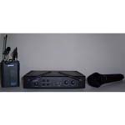 Dual Wireless Microphone System (Lavaliere & Handheld)