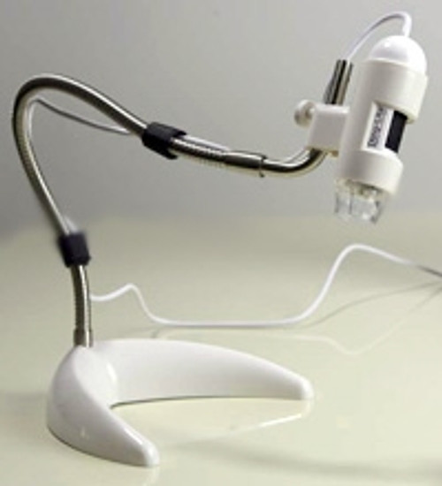 Dino-Lite Articulating Desktop Stand - White