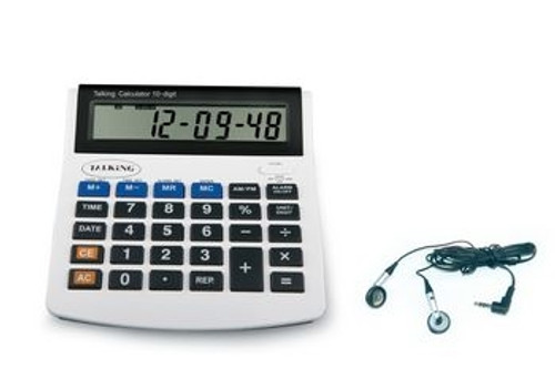 10 Digit Talking Calculator With Earbud