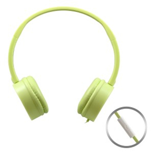 HamiltonBuhl Yellow KidzPhonz Headset with In-Line Microphone