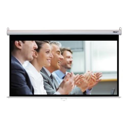 "HamiltonBuhl 92"" Diag. (45x80) Manual Projector Screen, HDTV Format, Matte White Fabric"