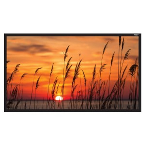 """HamiltonBuhl 120"""" Diag. (59x105) Fixed Frame Projector Screen, HDTV Format, Matte White Fabric"""