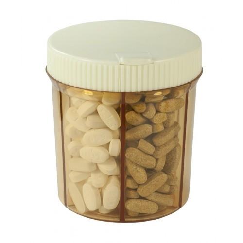 Vitanizer 6 Compartment Pill Vitamin Organizer Dispenser with Easy