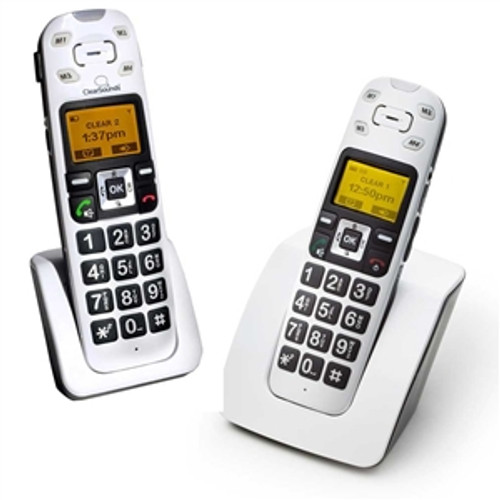 2 Phone Bundle for Mild to Moderate Hearing Loss - Includes 1 Cordless Base Unit with Vibrating Handset and 1 Expansion Handset - ClearSounds Model A400BUN