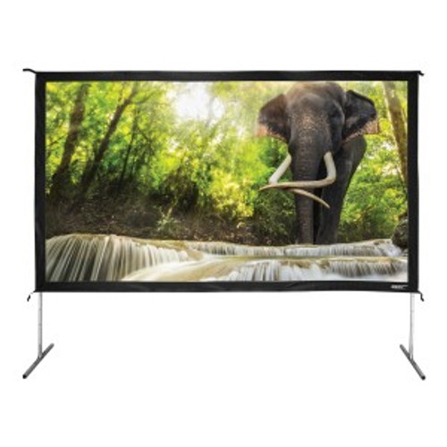 "HamiltonBuhl 138"" Diag. (68x120) Folding Frame Screen with Case, HDTV Format, Matte White Fabric"