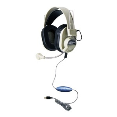 HamiltonBuhl Deluxe USB Headset with Gooseneck Microphone
