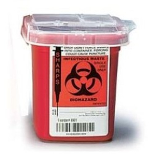 Bioharzard Needle and Sharp Object Safety Container - 1 Pint