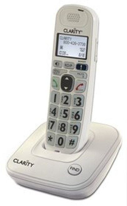Amplified Cordless Big Button Telephone for Mild to Moderate Hearing Loss - Clarity Model D704