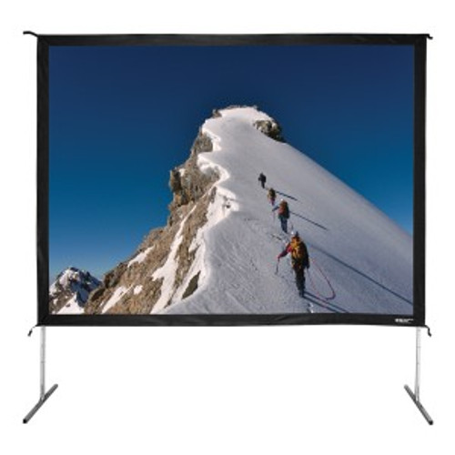 """HamiltonBuhl 135"""" Diag. (81x108) Folding Frame Screen with Case, Video Format, Matte White Fabric"""