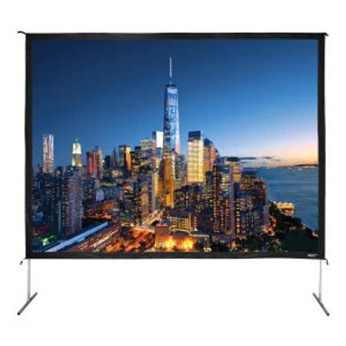 """HamiltonBuhl 180"""" Diag. (108x144) Folding Frame Screen with Case, Video Format, Matte White Fabric"""