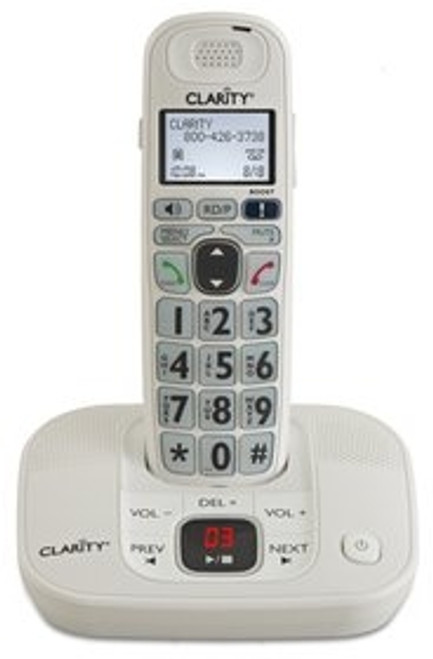 Amplified Cordless Big Button Telephone with Answering Machine for Mild to Moderate Hearing Loss - Clarity Model D714