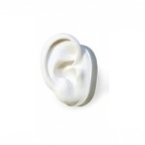 White Silicone Display Ear Only - Right or Left