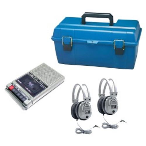 HamiltonBuhl LCP Listening center w/2 headphones, Cassette Recorder in medium plastic carrying case
