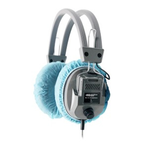 "HamiltonBuhl Disposable Ear Cushion Covers, Blue, 4.5"" Deluxe,  50 Pair"