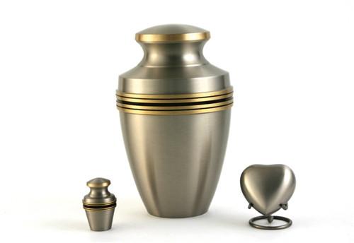 Hand Crafted Brass Grecian Memorial Urn