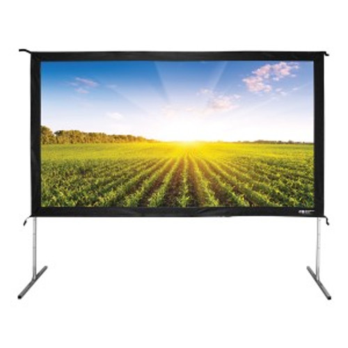 "HamiltonBuhl 110"" Diag. (54x96) Folding Frame Screen with Case, HDTV Format, Matte White Fabric"