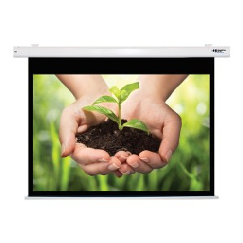 """HamiltonBuhl 84"""" Diag. (50x67) Electric Projector Screen, Video Format, Matte White Fabric"""