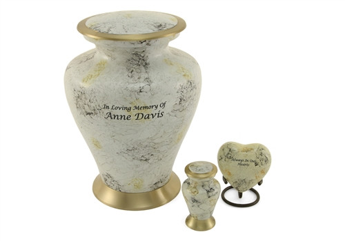 Hand Crafted Brass and Aluminum Glenwood Memorial Urn