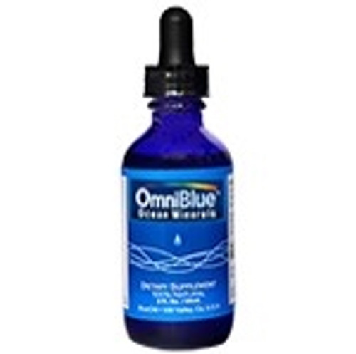 OmniBlue Ocean Minerals - Liquid Magnesium Minerals Dietary Supplement - 2 Ounce Dropper