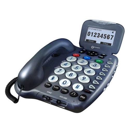 Digital Amplified Corded Telephone with Answering Machine for Mild to Moderate Hearing Loss - Geemarc Model AMPLI455