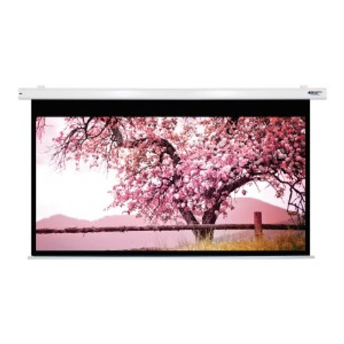 """HamiltonBuhl 110"""" Diag. (54x96) Electric Projector Screen, HDTV Format, Matte White Fabric"""
