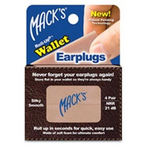 Mack's Roll-Up Wallet Ear Plugs (4 Pair)