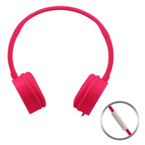 HamiltonBuhl Pink KidzPhonz Headset with In-Line Microphone