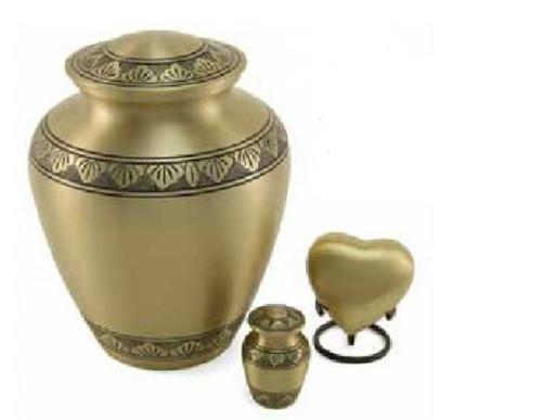 Hand Crafted Brass Elite Memorial Urn