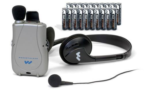 Williams Sound PockeTalker Ultra DUO w/ Headphones, Earbud, & Free Year Supply of Batteries - PKTD1-EH